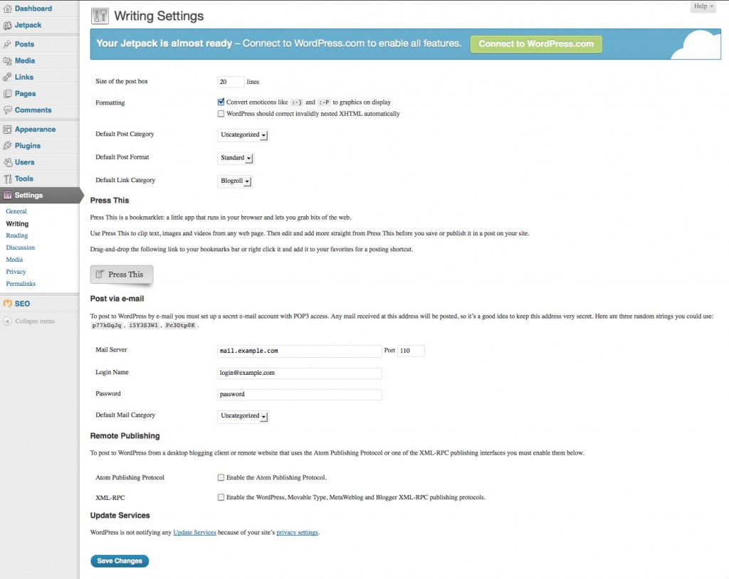 wordpress settings2