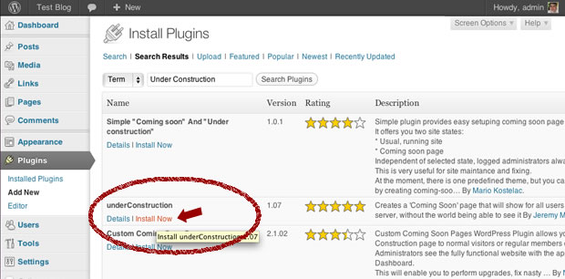install wordpress plug-in