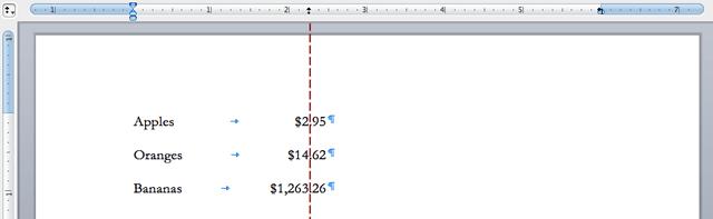 decimal-tabs