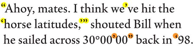 smart quotation marks