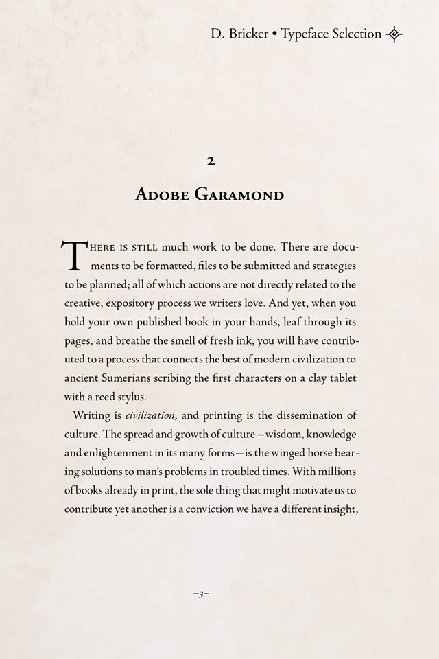 Adobe Garamond font by Robert Slimbach, 1989
