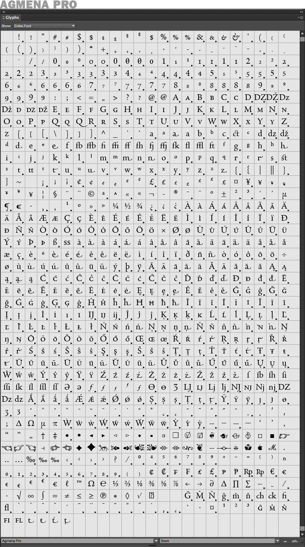 agmena-pro-glyphs