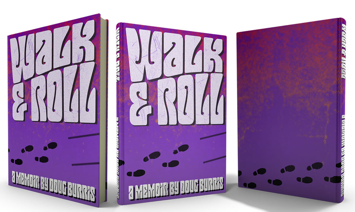book cover design Doug Burris Walk and Roll