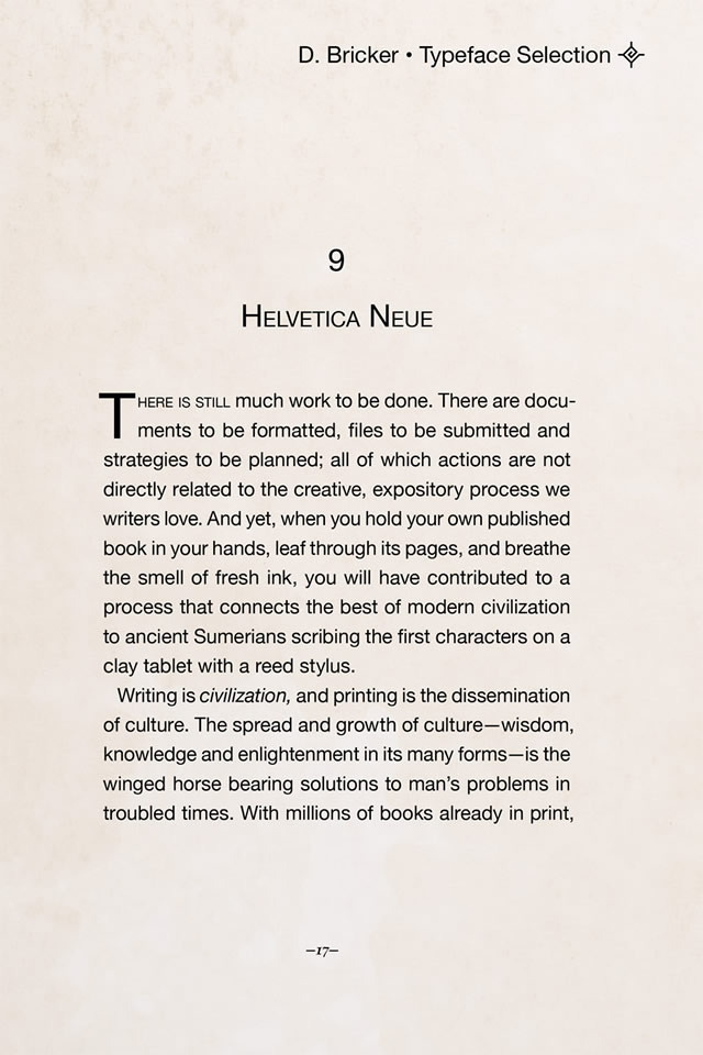 Helvetica Neue font, 1983 by D. Stempel