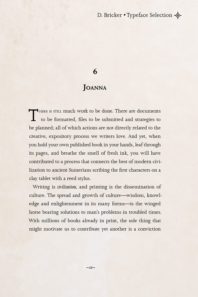 Joanna font by Eric Gill