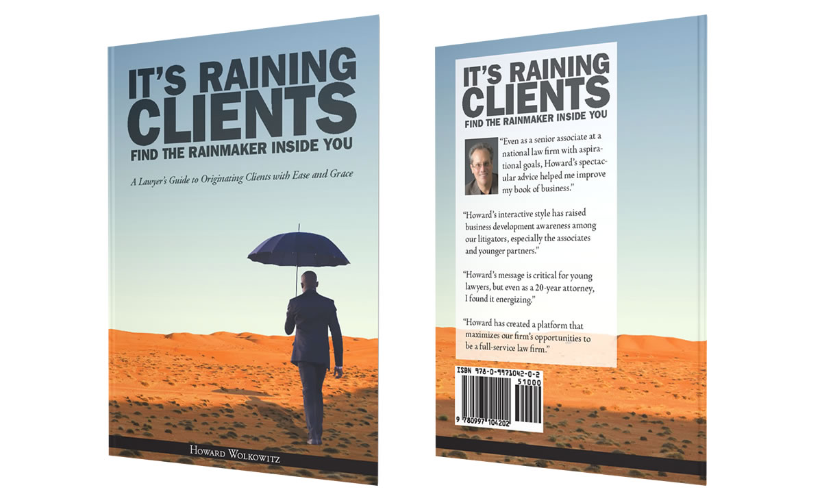Elegant Book Cover Design For Howard Wolkowitz: Itu0027s Raining Clients
