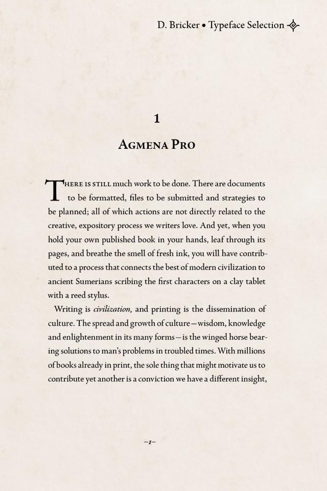Agmena Pro font by Created by Jovica Veljović, 2013