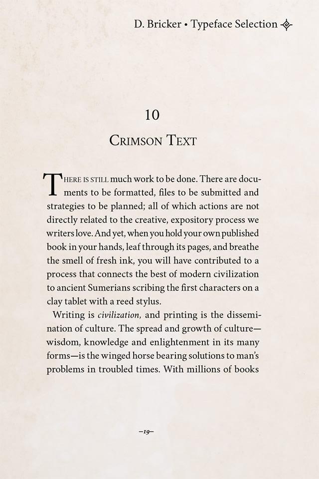 Crimson Text font by Sebastian Kosch, 2010
